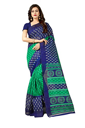 Oomph! Art Silk Saree With Blouse Piece (rbks_Blue_Free Size)