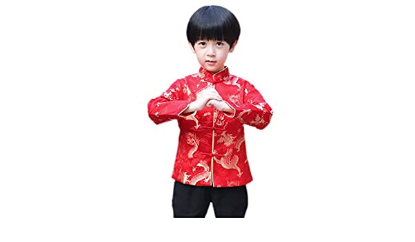 Yue Lian Kinder Hemd Jacke TangZhuang Oberteile Rot
