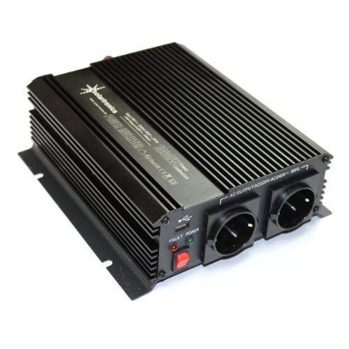 Spannungswandler 1000-2000 Watt 24-230V - Aluminium-serie Laptop