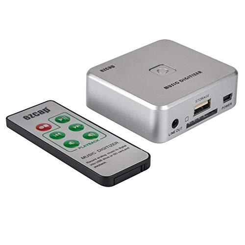 Nowakk USB-Audio-Aufnahmebox, freies Laufwerk direkt USB-Flash-Laufwerk/SD-Karte MP3-Player zeichnet Chipsätze auf, Gezeigt Konverter Signalkonverter für TV VHS VCR DVD