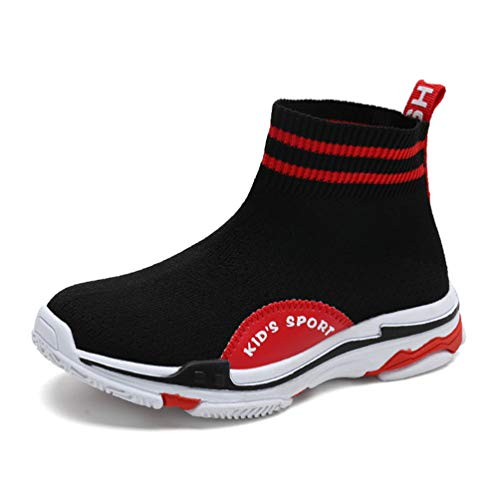 Feidaeu Calze Scarpe Bambini Bambina Scarpe Alte Elastiche per Ragazzi Ragazzi Scarpe Sportive Casuali Scarpe da Corsa Scarpe da Passeggio