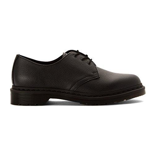 Dr.Martens Womens 1461 3 Eyelet Pebble Leather Shoes Noir