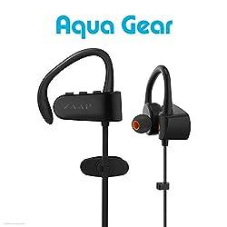 ZAAP (USA) Aqua Gear Bluetooth Waterproof Headphones/Headsets 2018 [Black].