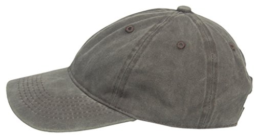 59 Dunkelgrün (Cool4 Stonewashed Jeans Dunkelgrün 6-Panel Basecap Baseball Cap Vintage Kappe Mütze SBC06)