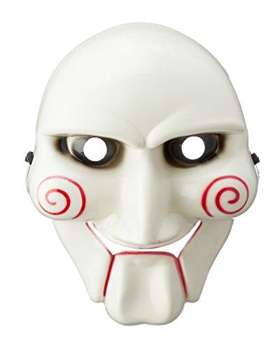 Preis am Stiel Halloween Maske Saw | Grusel | Horror Maske | Fasching | Halloween Deko | Kostüm Zubehör | Straßenkarneval | Verkleidung für Männer & Frauen | Maskenball | (Jigsaw Figur Kostüm)