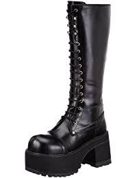 Pleaser Men's Ranger 302 Lace-up Boot, Black PU, 10 M US