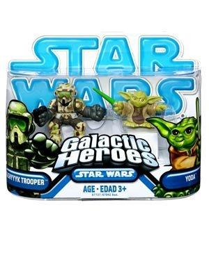 Star Wars: Clone Wars Galactic Heroes > Kashyyyk Trooper & Yoda Action Steht 2-Pack (Trooper Kashyyyk Clone)