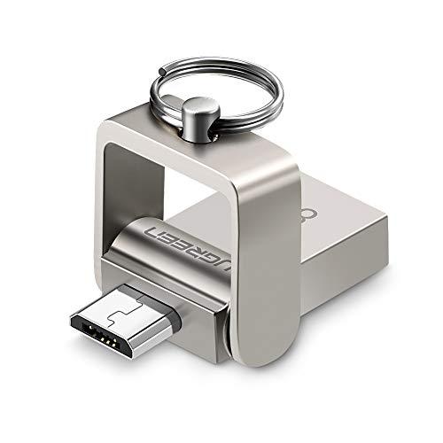 UGREEN Chiavetta USB 8 GB, 16GB 2 in 1 Micro USB MemoriaUSB PenDrive Flash Drive in Lega di Alluminio, Penna USB per Android Smartphone e Tablet Come Samsung S7 S6 J7,Huawei P10 Lite P9 Lite,ECC.