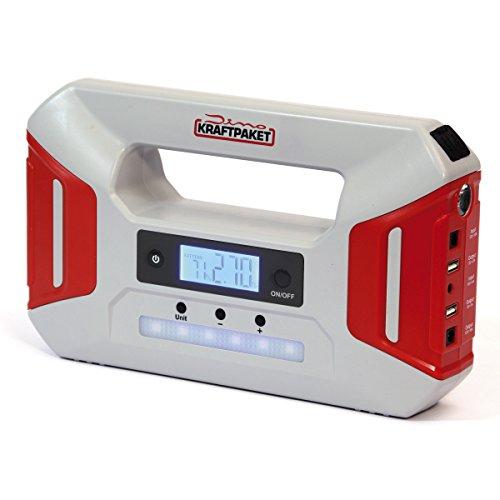 Dino KRAFTPAKET 12V-600A Starthilfegerät 51.2Wh 16000mAh 12 Booster