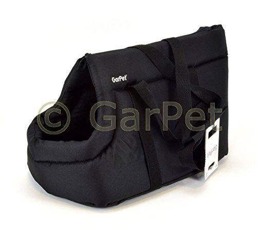 Transporttasche Tragetasche Hand Tier Tasche Hunde Katzen Korb Transport Box (Gr.1, schwarz)
