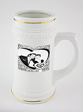 I Love Lucy beer mug with golden rim