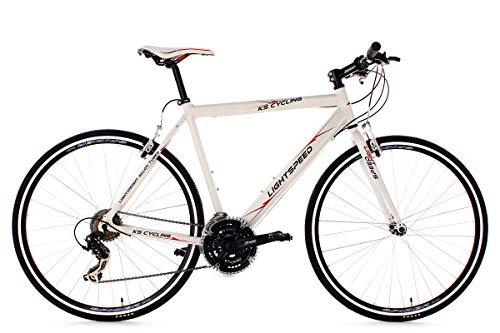 KS Cycling Fahrrad Fitnessbike Alu Lightspeed RH 54 cm Weiß, 28
