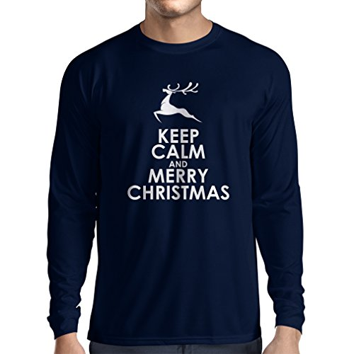 T-Shirt mit langen Ärmeln ideen für Weihnachtsgeschenke Blau Weiß