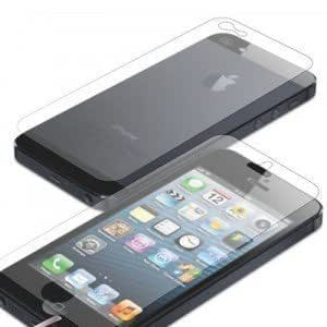 2 lots de Films (2av+2ar) transparents protection écran haute qualité traitement anti rayure (iPhone 5 transparent)