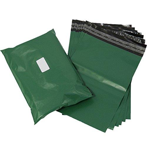 Triplast, 40 x 30 cm-Buste per posta, in plastica, colore: verde oliva, confezione da 200 pezzi