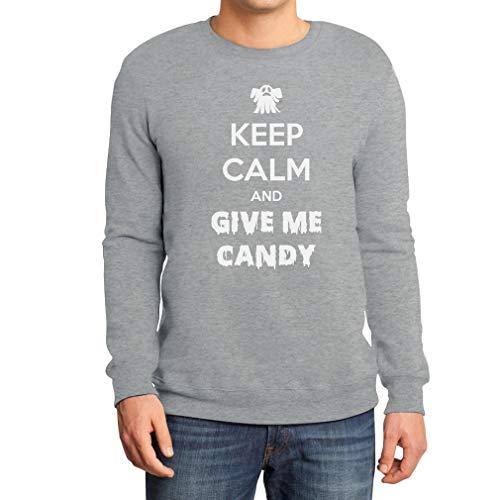 Halloween - Give Me Candy Sweatshirt XX-Large Grau