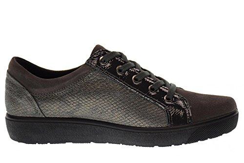 ENVAL SOFT scarpe donna sneakers basse con piattaforma 89782/00 ANTRACITE Antracite