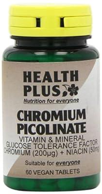 Health Plus Chromium Picolinate Mineral Supplement - 60 Tablets by Health + Plus Ltd