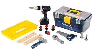 Theo Klein-8259 Bosch Professional Tool Case y Atornillador acumuladores, Juguete, Multicolor 8259
