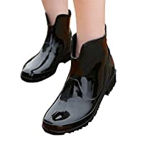UniEco Waterproof Women Rain Boots Easy On&Off Short Ankle, for Women PVC Smooth Surface