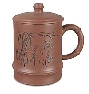 Handgefertigte Ton Tasse/Teetasse mit Deckel und Sieb