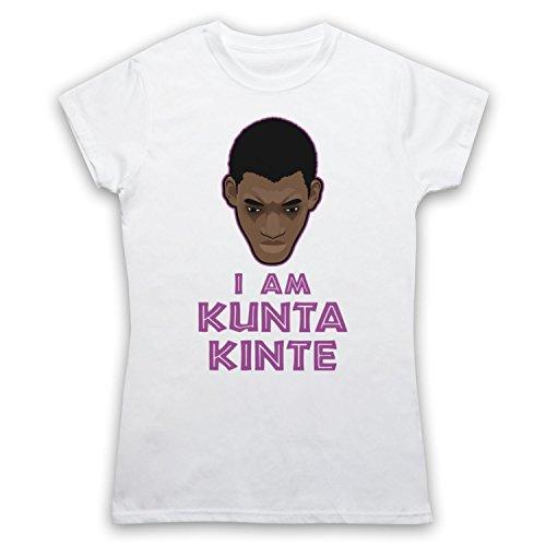 Roots I Am Kunta Kinte Damen T-Shirt Weis