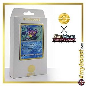 Bruxish 38/147 Holo Reverse - #myboost X Sun & Moon 3 Burning Shadows - Box de 10 cartas Pokémon Inglesas