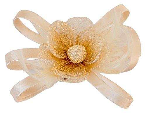 Frauen Sinamay Faszinator Hut Hochzeit Zubehör Blütenkopfstück Haarclip Brosche (Kentucky Kostüm Derby Girl)