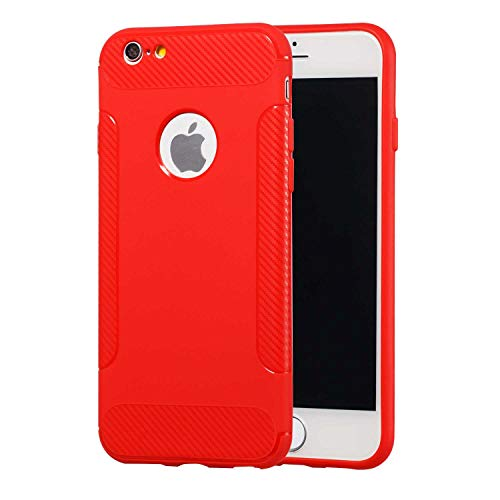 The Grafu iPhone 7 Hülle iPhone 8 Hülle, Shock Resistant Ultra Dünne Schutzhülle Silikon TPU Cover Case für Apple iPhone 7 / iPhone 8, Rot