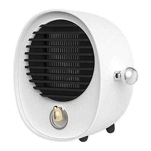 Yeying123 Ruhige Mini-Feinheizung 2 Second Speed Heat Portable Electric Indoor Heater Low Decibel Mit Überwärmeschutz Für Home/Office/Bedroom.500W,White (Portable öl Gefüllt Heizung)