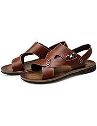 Sharon zhou Infradito in pelle doppia estate sandali ciabatte da spiaggia  stile inglese per uso interno 570536ba8d1