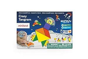Miniland- On The Go: Crazy Tangram Juego magnético para niños, Multicolor (31965)