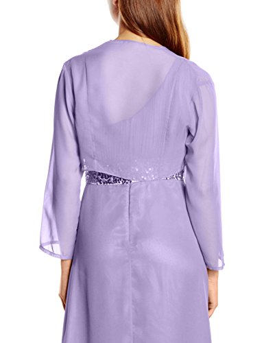 Astrapahl Damen Bolero Jacke für Festliche Anlässe in Verschiedenen Farben Violett (Flieder)