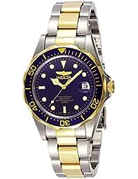 Invicta Pro Diver Unisex Wrist Watch Stainless Steel Quartz Blue Dial - 8935