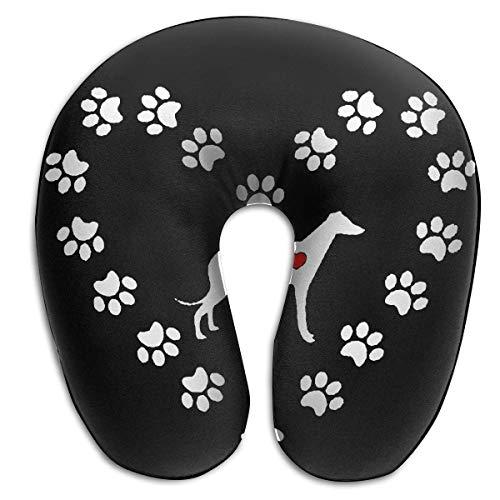 EighthStore U-förmiges Kissen Greyhound Dog Heart U-Shaped Pillows Comfortable Neck Pillow Travel Neck Pillow -