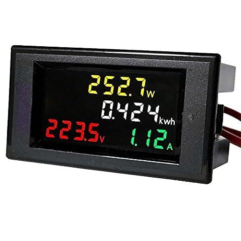 Sharplace Voltmètre Numérique Lcd 80-300v Ampèremètre Volt Amplificateur Puissance Kwh Panneau Mètre 100a Ct
