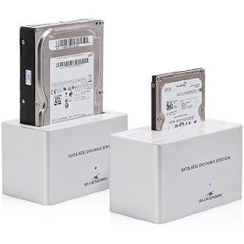 Bluestork BS-EHD-DOCK/S2 Station d'accueil pour disque dur SATA 2.5'' et 3.5'' vers USB2.0 et eSATA