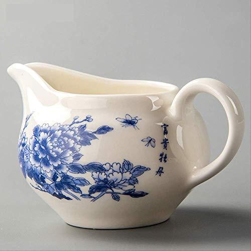 Q&C Chinesische Keramik Teekanne Wasserkocher Fair Cup Becher Kaffee Teesieb Porzellan Tee-Sets White Bone China Drinkware