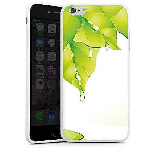 Apple iPhone X Silikon Hülle Case Schutzhülle Blätter Regentropfen Tautropfen Silikon Case weiß