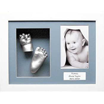 BabyRice D Baby Casting Kit Silver Hand and Foot Casts Aperture Frame