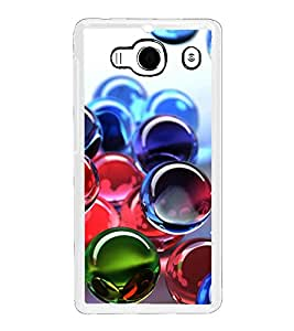 Colourful Marbles 2D Hard Polycarbonate Designer Back Case Cover for Xiaomi Redmi 2S :: Xiaomi Redmi 2 Prime :: Xiaomi Redmi 2