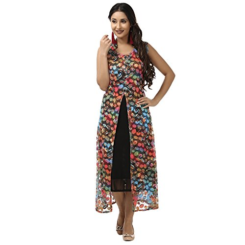 eoigE\u2122 Multicolour Net Casual Kurti