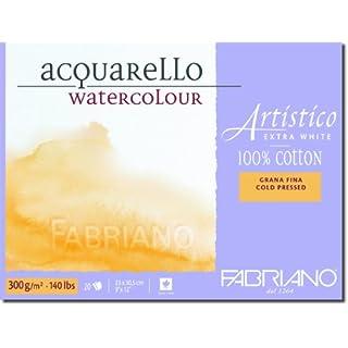Fabriano Artistico 140 lb. Cold Press 20 Sheet Block 9x12