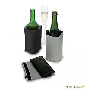 Pulltex - Refroidisseur vin et champagne noir et gris Pulltex - Accessoires oenologie