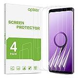 apiker Film Protection Écran Compatible avec Samsung Galaxy S9, Film Souple Compatible avec Samsung Galaxy S9, Transparent HD, Haute Sensibilité Tactile, Couverture Maximale