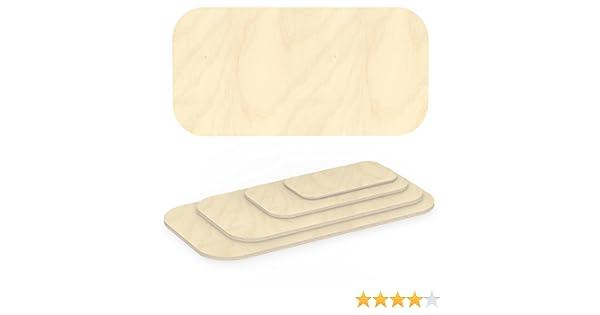 AUPROTEC Multiplexplatte 30mm Ellipse 600 mm x 500 mm Holzplatten von 40cm-200cm ausw/ählbar elliptische Sperrholz-Platten Birke Massiv Multiplex Holz Industriequalit/ät z.B als Tisch-Platte