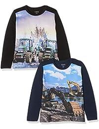 Care 550206 T-Shirt, (Dress Blues 7721), 104, Pack of 2