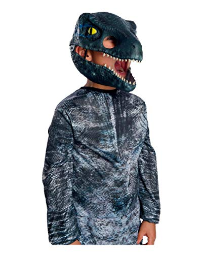 Raptor Blau World Kostüm Jurassic - Horror-Shop Jurassic World Velociraptor Kindermaske mit beweglichem Kiefer