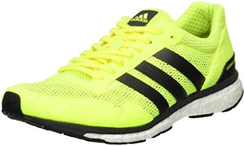 adidas Herren Adizero Adios Laufschuhe, Gelb (Solar Yellow/Utility Black/Footwear White), 46 EU