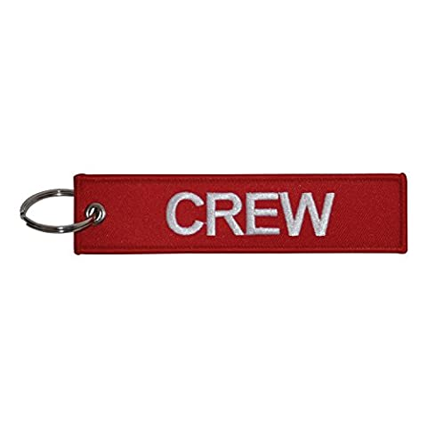 Crew Embroidered Tag x 1 (Red / White)